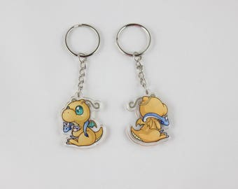 Dragonite Double-Sided Acrylic Charm Keychain - Pokemon
