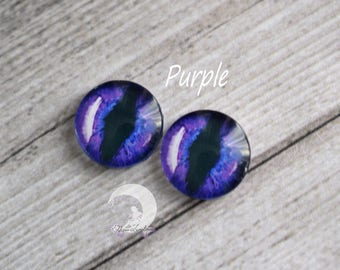 """""""Cat eyes"""" Eyechips for Pullip and Yeolume glass - size 12mm - Purple - NEW!"""