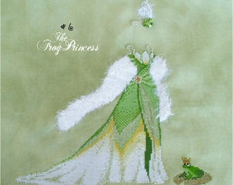 Brooke's Books #6 The Frog Princess - Fairy Tale Princess Dress Up - Cross Stitch Chart INSTANT DOWNLOAD