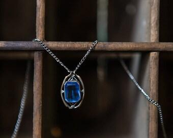Estate Jewelry - Antique Art Deco Sapphire Charm Necklace