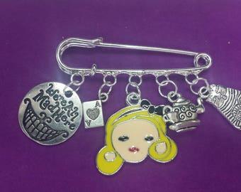 Alice in Wonderland themed Pin Bag Charm