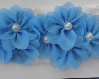 Light Blue Mini Flowers Headband