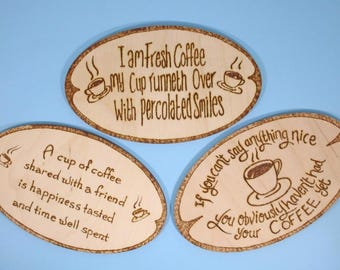 Coffee lovers fridge magnet - coffee lovers gift, funny gift, coffee poem, funny coffee saying, original poetry