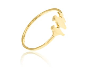 Bird Ring, Bird Jewelry, Animal Ring, Boho Chic Jewelry, Trendy Rings, Unique Jewelry, Gold Plated Jewelry, Casual Ring, Dainty Ring