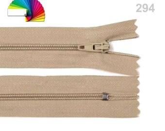 2 Nylon Coil Zipper width 3 mm length 35 cm