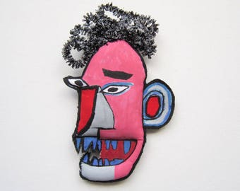 Urban art Basquiat pink art face creative graffiti home decoration gift black artist unisex carefully packaged mask art birthday graduation