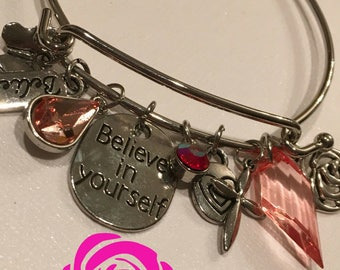 Believe in Yourself Bangle Charm Bracelet