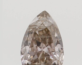0.14 Ct Natural Loose Diamond Pear Shape Brown Color 4.10X2.70X1.72 MM K2777