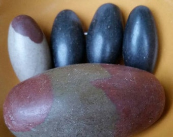 Shiva Lingum Stones.Various Sizes and Colors Available! Male & Female Energies Together. An Energy Generator. Considered Very Sacred Stones.