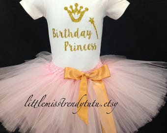Pink Birthday Outfit, First Birthday Tutu Set, Pink Birthday Tutu, 1st  Birthday Shirt Tutu Set, Girls Birthday Outfit, Pink Girls Tutu Set