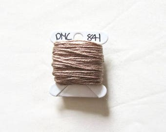 Fawn brown embroidery floss, DMC 841, stranded embroidery thread, cross stitch supplies, stranded cotton