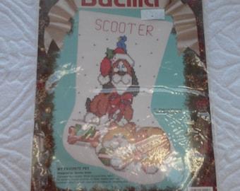 Bucilla My Favorite Pet Christmas Counted Cross Stitch Stocking Kit 82922