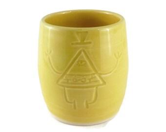 Bill - Gravity Falls - ceramic cup - pottery mug - geeky mug - Bill Cypher
