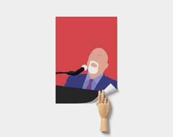 Billy Joel Poster. Minimal Poster. Billy Joel Print.