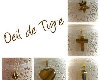 Lucky Eye Tiger Eye Pendant Necklace