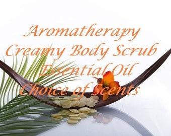 Cream Body Scrub, Sugar Scrub, Salt Scrub, Shea Butter Scrub, Cream Body Scrub, Body Polish, Essential Oil, Natural body Scrub, 8 oz