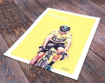 Chris Froome Tour De France Print