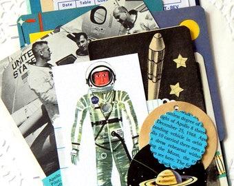 Vintage Space Ephemera Pack. Space Ephemera. Vintage Ephemera. Journal Paper. Planner Accessories. Collage Ephemera. Vintage Paper Pack.