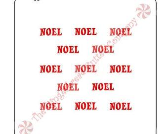 Noel Background Cookie Stencil