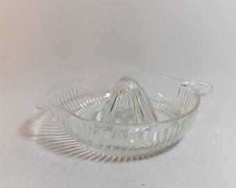 Vintage Glass Juicer Strainer Reamer