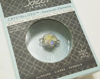 Swarovski, Crystal, Magnetic, Clasp, Closure, Jolee's Jewels, NIB, Flower, Crystal AB, Jewelry, Beading, Supply, Supplies