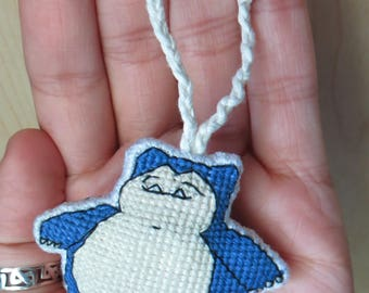Snorlax Pokemon Charm for Keychain, Backpacks, Purses, Bags, Rearview Mirrors, Christmas Trees