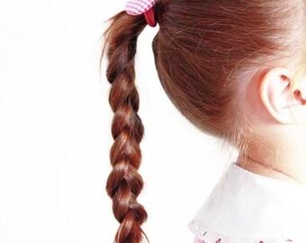 Elastico per capelli con stoffa grembiule asilo
