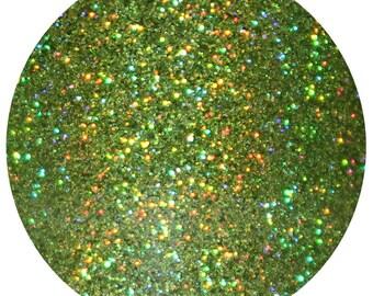 Kiwi Island | Glitter Eyeshadow | 15 mL Pot | Green Holographic Cosmetic Glitter Eyeshadow | Green Glitter Eyeshadow | Makeup Glitter Pot