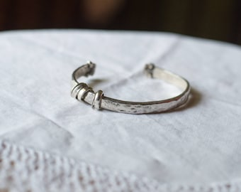 Sterling Silver Cuff Bracelet With Ring Charms