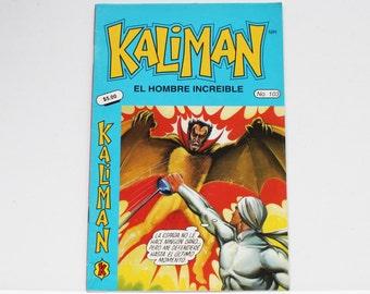 Kaliman El Hombre Increible No 103 El Asesino Invisible y Faraon Sagrado Revista en Español Spanish Comic RARE
