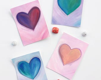 Heart Art - Original 5 x 7 Painting