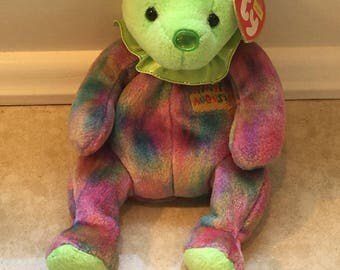 August Bear Beanie TY