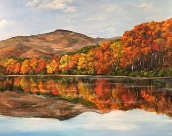 Custom painting from photo, Landscape painting , Photo to painting