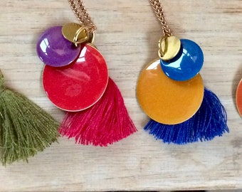 Colors Red & blue necklace