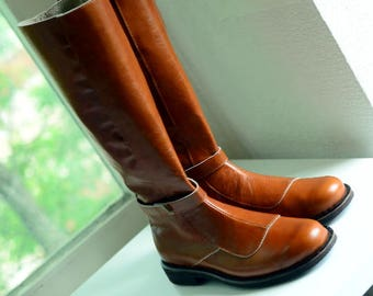 Made to order cosplay boots / Obi-Wan Kenobi leather boots / Star Wars jedi shoes