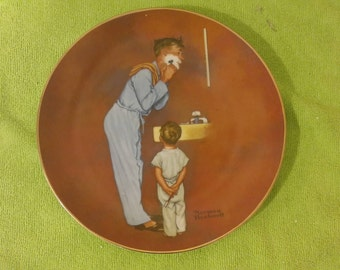 "Norman Rockwell, Collector Plate ""Little Shaver"", 1980"