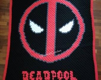 Deadpool Corner to Corner (C2C) Crochet Blanket Pattern