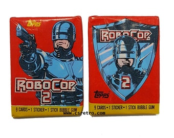 1 Pack Robocop Movie Vintage Bubble Gum Trading Cards