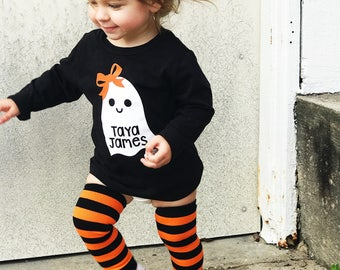 Toddler Ghost Shirt , Toddler Halloween Shirts , Kids Halloween T-Shirts , Personalized Halloween Shirt , Baby Ghost Shirts