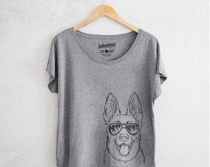 Featured listing image: Brutus the German Shepard- Tri-Blend Dolman Grey