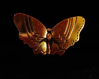 Vintage Laurel Burch Gold Tone Butterfly Pin