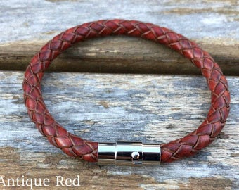 Womens Leather Bracelet Gift Under 20 Women's Bracelet Gift For Her Girlfriend Gift Mother's Day Gift CS-1