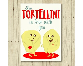I'm Tortellini In Love With You, Funny Refrigerator Magnet, Romantic Gift for Her, Gifts Under 10, Small Gift, Italian, Pasta