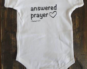 Baby Onesie // Answered Prayer
