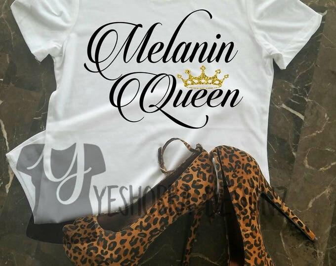 Melanin Queen Shirt, Black Queen Shirt, Black Girl Magic, My Black Is Beautiful, Black Girls Rock, Melanin Queen, African Queen