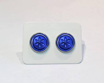 Stainless Stud Earrings Water Medallion The Legend of Zelda: Ocarina of Time