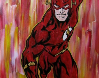 Original Painting DC The Flash
