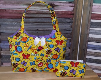 Bugs, Bees Dragonflies Little Girls Purse