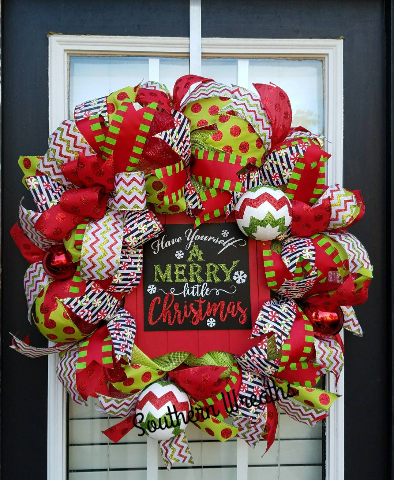 Front door christmas wreaths - Whimsical Christmas Wreath Merry Little Christmas Wreath Christmas Wreaths For Front Door Christmas