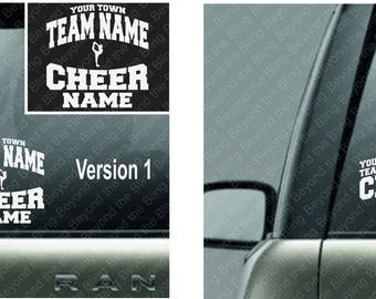 custom cheer decal custom cheer car decal cheerleader name car decal vinyl car decal custom cheer name sticker custom cheer vinyl car decal